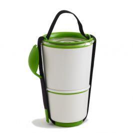 Bílo-zelené svačinové misky Black+Blum Lunch Pot