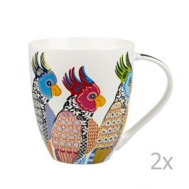 Sada 2 hrnků z porcelánu Churchill China Parakeets, 500 ml