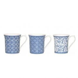 Sada 3 hrnků z kostního porcelánu Churchill China Blue Story Royale Broo, 220 ml