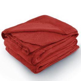 Červená deka z mikrovlákna AmeliaHome Tyler, 150 x 200 cm