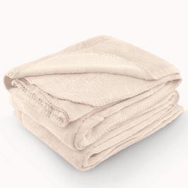 Krémová deka z mikrovlákna AmeliaHome Tyler, 220 x 240 cm