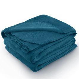 Indigově modrá deka z mikrovlákna AmeliaHome Tyler, 150 x 200 cm