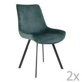 Sada 2 zelených jídelních židlí House Nordic Drammen