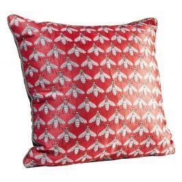 Červený polštář Kare Design Bee, 45 x 45 cm