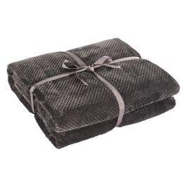 Tmavě šedá deka z mikrovlákna DecoKing Henry, 150x70cm
