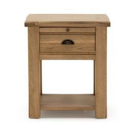 Noční stolek s 1 šuplíkem z dubového dřeva VIDA Living Breeze