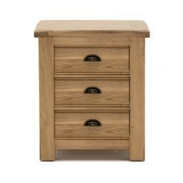 Noční stolek s 3 šuplíky z dubového dřeva VIDA Living Breeze