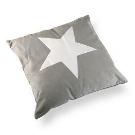 Polštář Versa Grey & White Stars, 45 x 45 cm