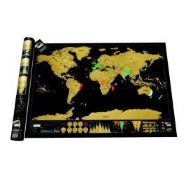Stírací mapa světa Luckies of London Deluxe Edition