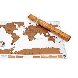 Stírací nástěnná mapa světa Ambiance Scratch Map