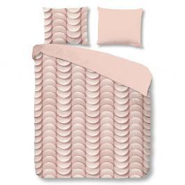 Růžové bavlněné povlečení na jednolůžko Good Morning Emerged,140x200cm