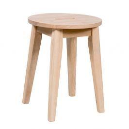 Matně lakovaná nízká dubová stolička Rowico Frigg