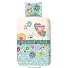 Dětské povlečení na jednolůžko z čisté bavlny Good Morning Cute Love, 140x200cm