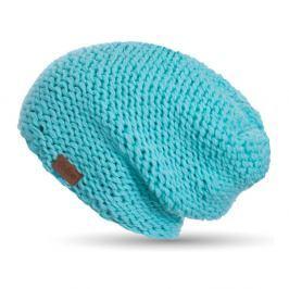 Tyrkysově modrá ručně pletená čepice DOKE Mina