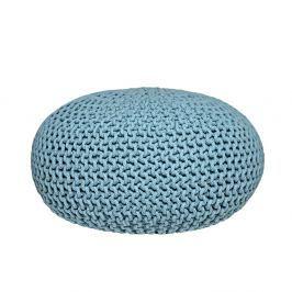 Tyrkysový pletený puf LABEL51 Knitted XL, ⌀ 70 cm