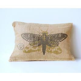Povlak na polštář z juty Surdic Moth, 50 x 35 cm