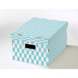Sada 2 krabic s víkem z vlnité lepenky Compactor Joy, 40x31x21cm