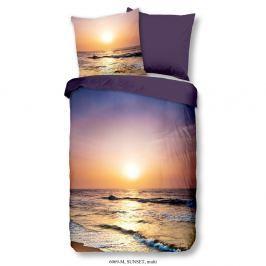 Povlečení na jednolůžko z mikroperkálu Muller Textiels Rassano Sunset Over The Ocean, 140 x 200 cm