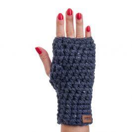 Tmavě modré ručně háčkované návleky DOKE Try