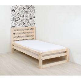 Dřevěná jednolůžková postel Benlemi DeLuxe Naturaleza, 190x90cm