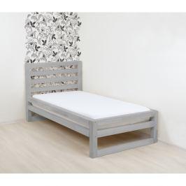 Šedá dřevěná jednolůžková postel Benlemi DeLuxe, 190x90cm