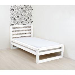 Bílá dřevěná jednolůžková postel Benlemi DeLuxe, 200x90cm