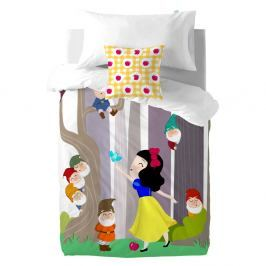 Dětské bavlněné povlečení na peřinu a polštář Mr. Fox Snow White, 140x200cm