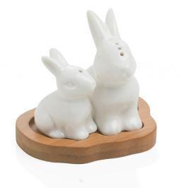 Slánka a pepřenka s podnosem Brandani Rabbit