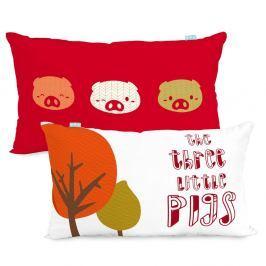Oboustranný bavlněný povlak na polštář Mr. Fox Little Pigs, 50x30cm