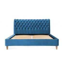 Tyrkysová postel z bukového dřeva Vivonita Allon, 180 x 200 cm