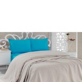 Bavlněný přehoz přes postel Pique Beige, 200x240cm