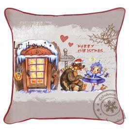 Vánoční povlak na polštář Apolena Comfort Village, 43x43cm