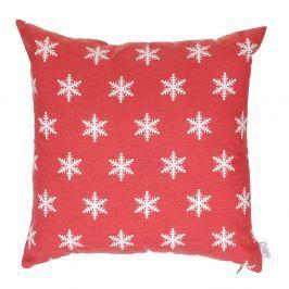 Červený vánoční povlak na polštář Apolena Shine Stars, 43x43cm
