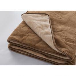 Hnědá deka z merino vlny Royal Dream Quilt,220x200cm