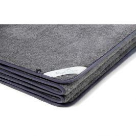 Šedá deka z merino vlny Royal Dream,140x200cm