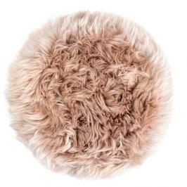 Béžový sedák z ovčí kožešiny na jídelní židli Royal Dream, Ø35cm