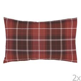 Sada 2 červených povlaků na polštář Catherine Lansfield Tartan Check, 50x75cm