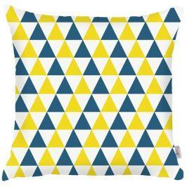 Modrožlutý povlak na polštář Apolena Triangles, 43x43cm