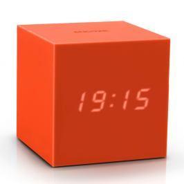 Oranžový LED budík Gingko Gravity Cube