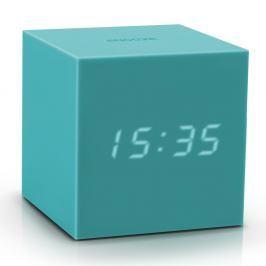 Tyrkysový LED budík Gingko Gravity Cube