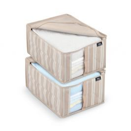 Sada 2 úložných boxů Domopak Stripes