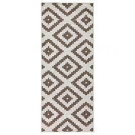 Hnědo-krémový oboustranný koberec vhodný i na ven Bougari Malta, 80x150 cm