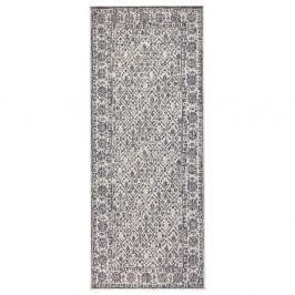 Šedo-krémový oboustranný koberec vhodný i na ven Bougari Curacao, 80x150 cm