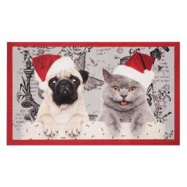 Rohožka Hanse Home Christmas Cat and Dogs, 45x75 cm