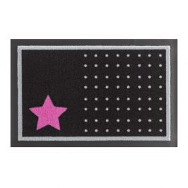 Rohožka Hanse Home Star and Dots Black and Pink, 40x60cm
