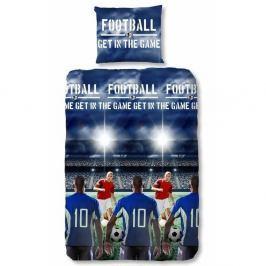 Dětské bavlněné povlečení na jednolůžko Muller Textiels Football, 140 x 200 cm