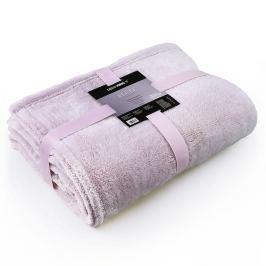 Světle růžová deka z mikrovlákna DecoKing Fluff Powderpink, 150 x 200 cm