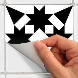 Sada 30 nástěnných samolepek Ambiance Decal Cement Tiles Antalya, 10 x1 0 cm