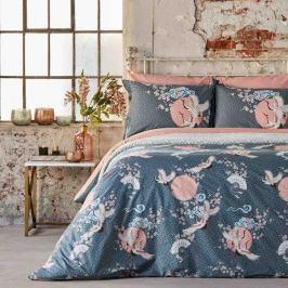 Povlečení na dvoulůžko z ranforce bavlny Bella Maison Sakura, 240 x 220 cm