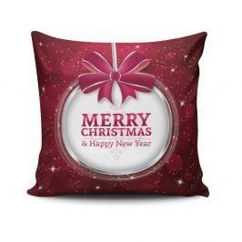 Polštář Merry Christmas In White Ball, 45x45 cm